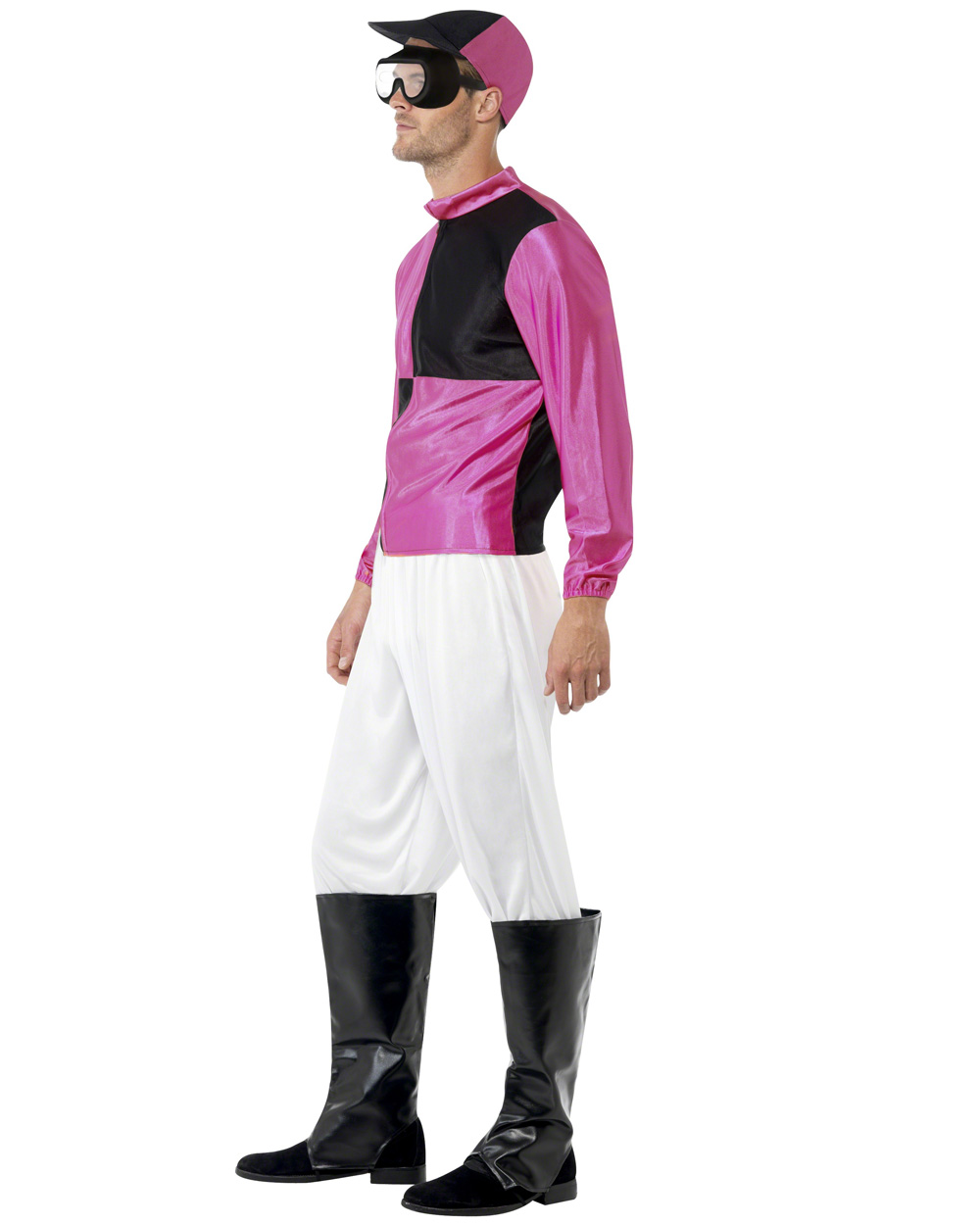 CL437 Pink Black Jockey Horse Rider Mens Uniform Fancy