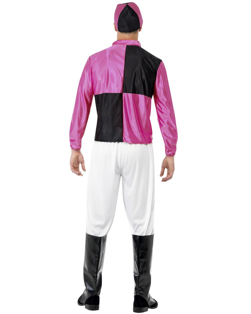 CL437 Pink Black Jockey Horse Rider Mens Uniform Fancy Dress Costume Outfit Hat   eBay