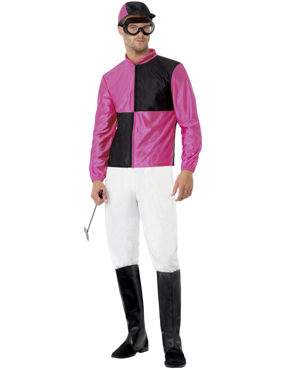 CL437 Pink Black Jockey Horse Rider Mens Uniform Fancy Dress Costume Outfit Hat | eBay