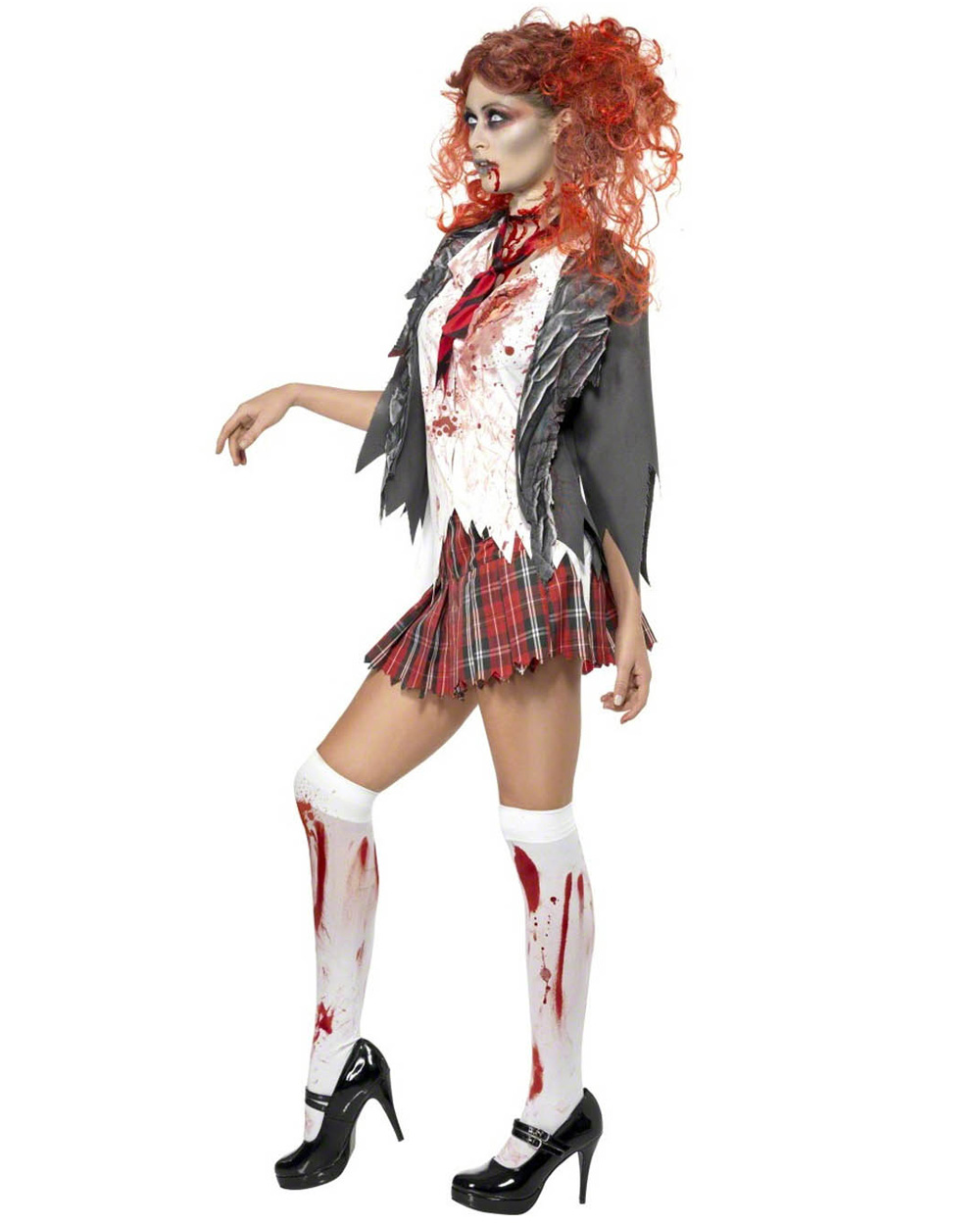 how to make a zombie school girl outfit