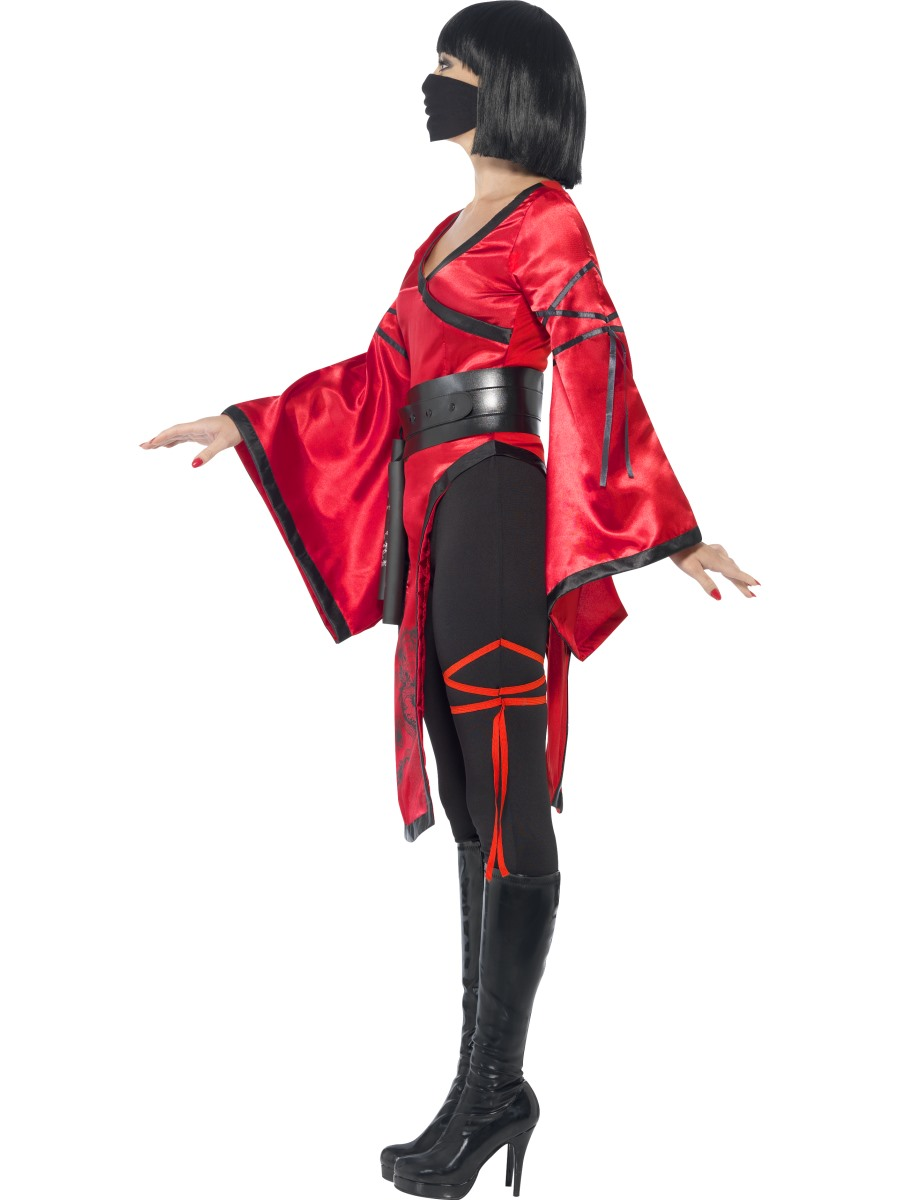 ca25 shadow warrior costume ladies dragon ninja fancy dress outfit nunchucks ebay. Black Bedroom Furniture Sets. Home Design Ideas