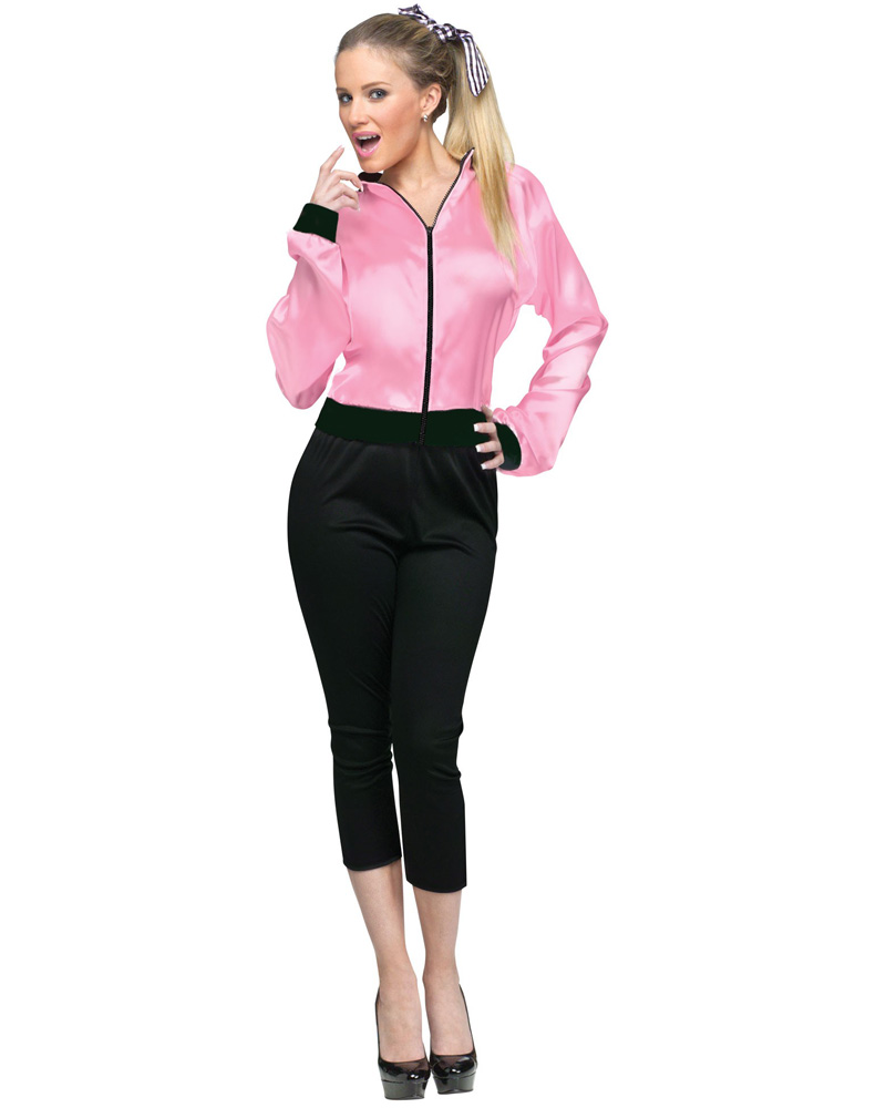 CL150 Pink Satin Ladies Grease Jacket Lady 1950s 50's Frenchie Rizzo ...