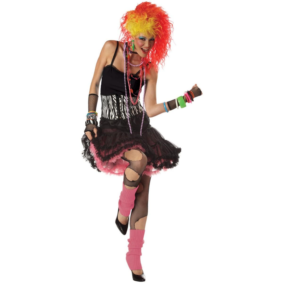 ... Party Girl Cyndi Lauper Disco Diva Fancy Dress Adult Costume | eBay