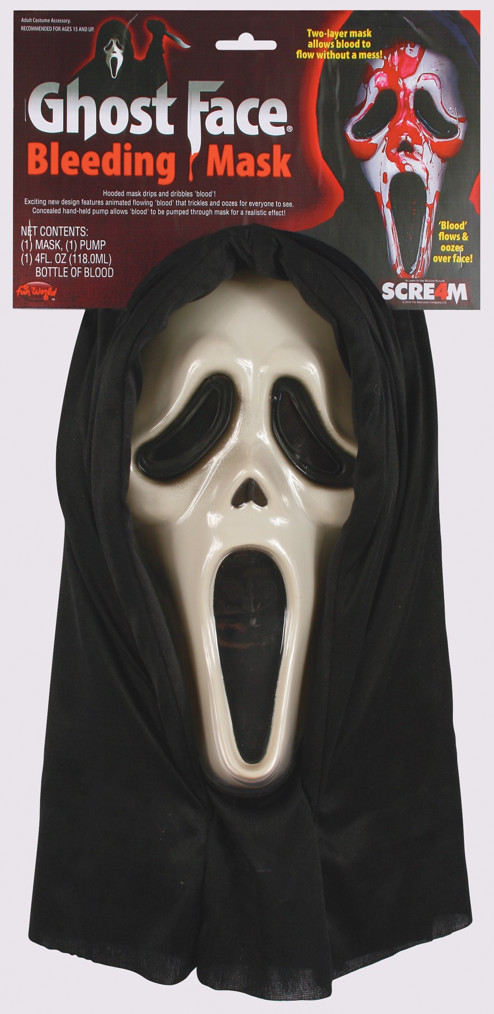 A922 Dripping Bleeding Scream Ghost Face Zombie Mask Halloween ...
