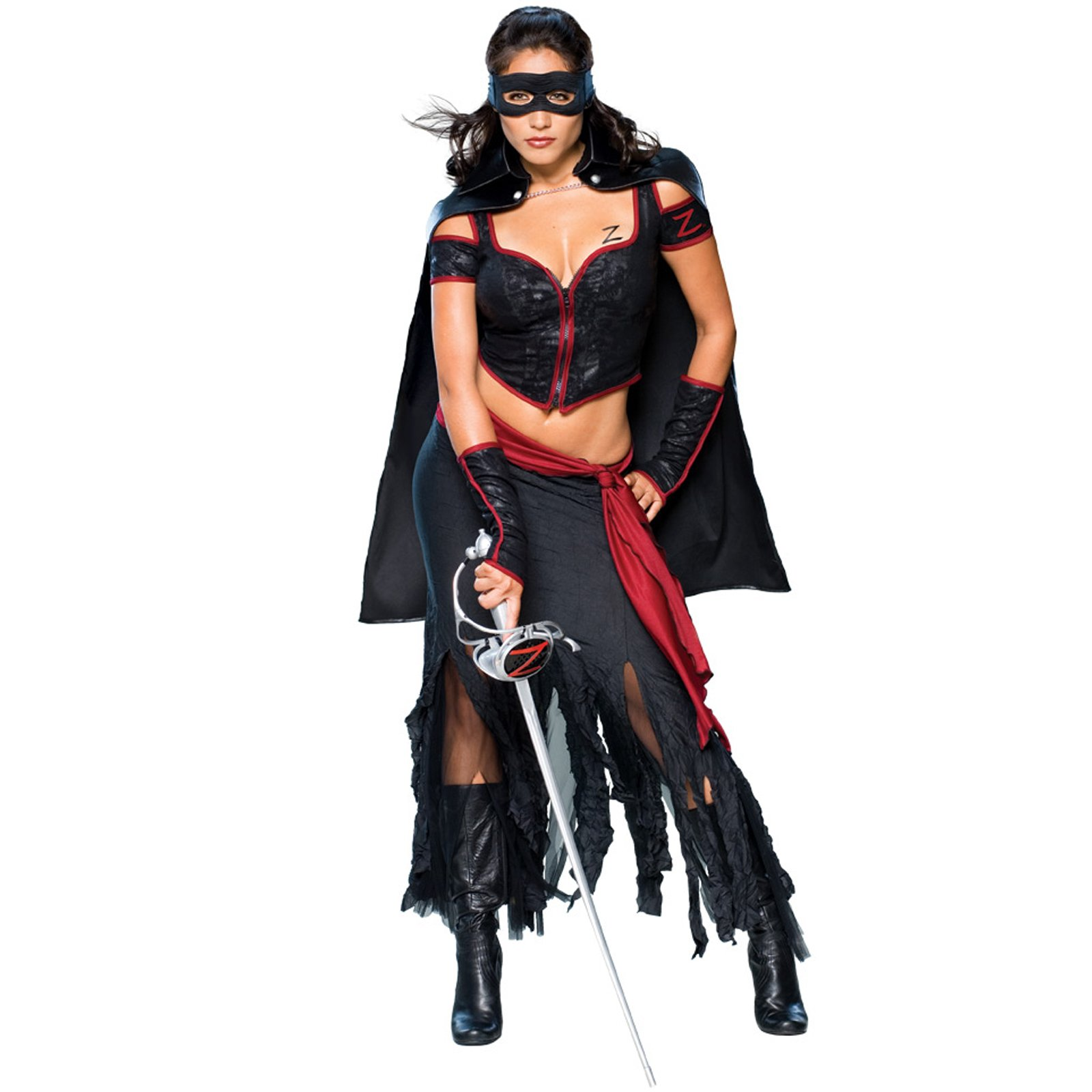 C719 Licensed Lady Zorro Mask Movie Spanish Hero Halloween