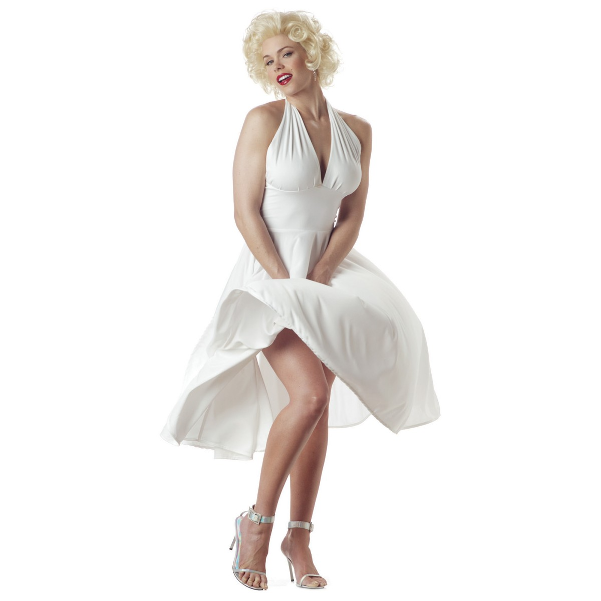 c11 licensed marilyn monroe sexy fancy dress adult costume. Black Bedroom Furniture Sets. Home Design Ideas