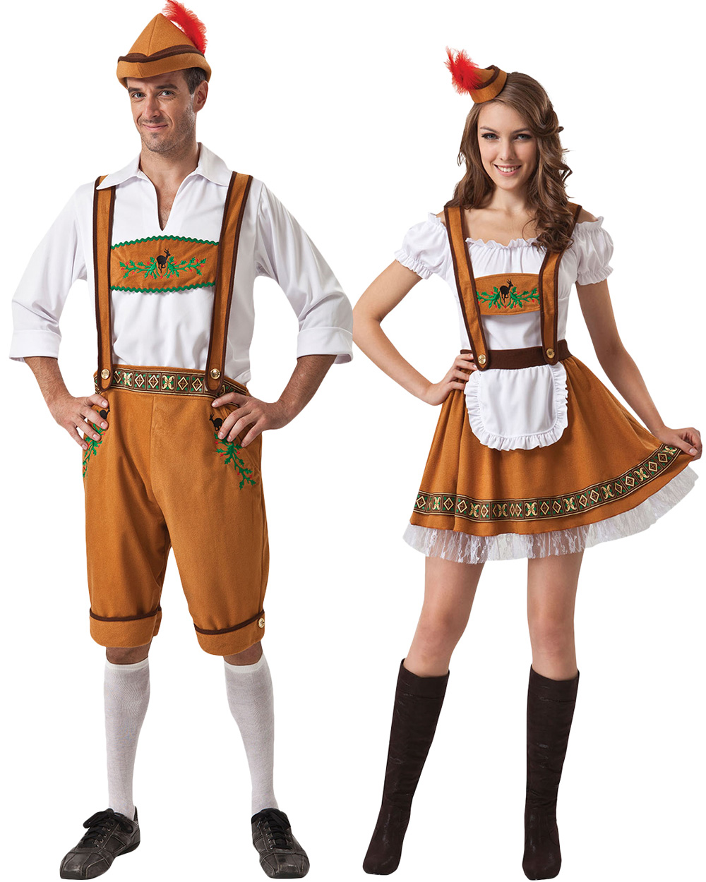 k175 oktoberfest couple leiderhosen german beer bavarian. Black Bedroom Furniture Sets. Home Design Ideas