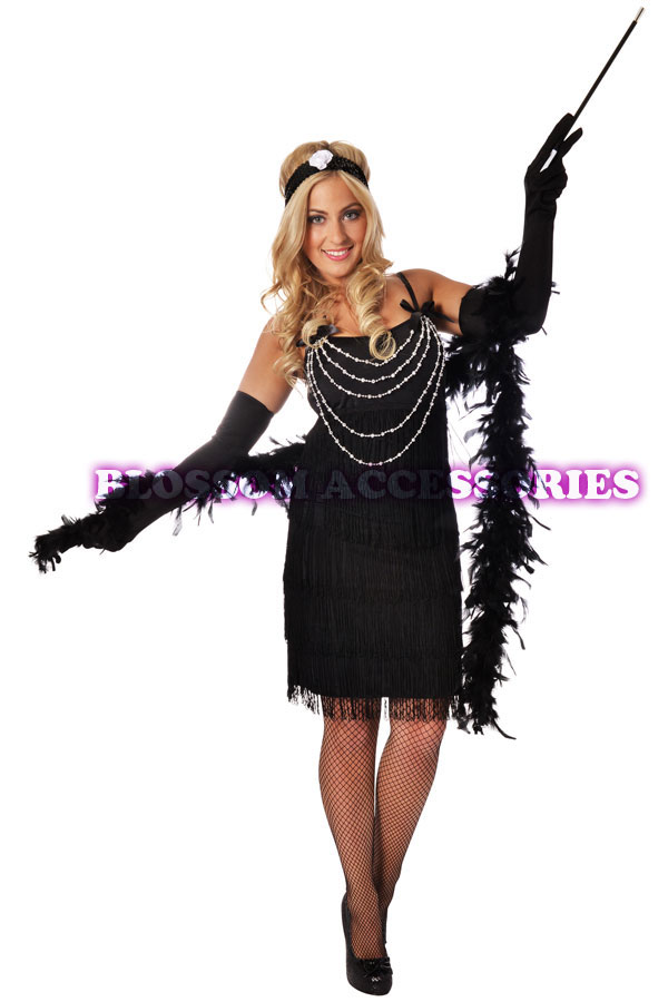 ... Charleston Gatsby Flapper Girl Fancy Dress Costume 20s Party Outfit