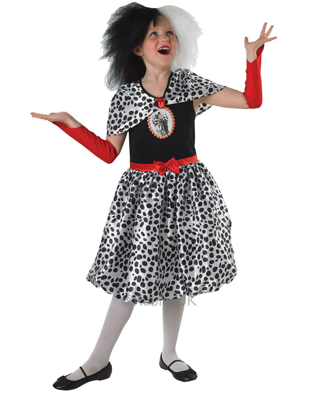 ck349 cruella de ville 101 dalmations villain tween girls fancy dress up costume ebay. Black Bedroom Furniture Sets. Home Design Ideas
