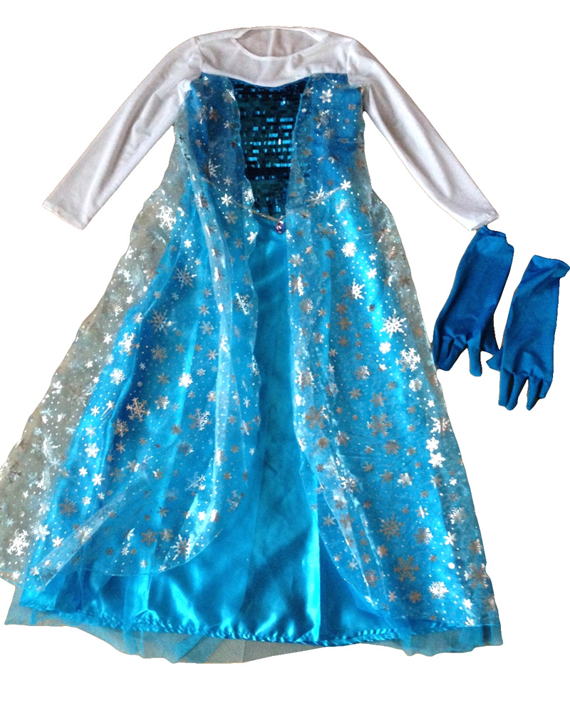CFR2 Deluxe Frozen Princess Anna Elsa Queen Dress Child Girls Book ...