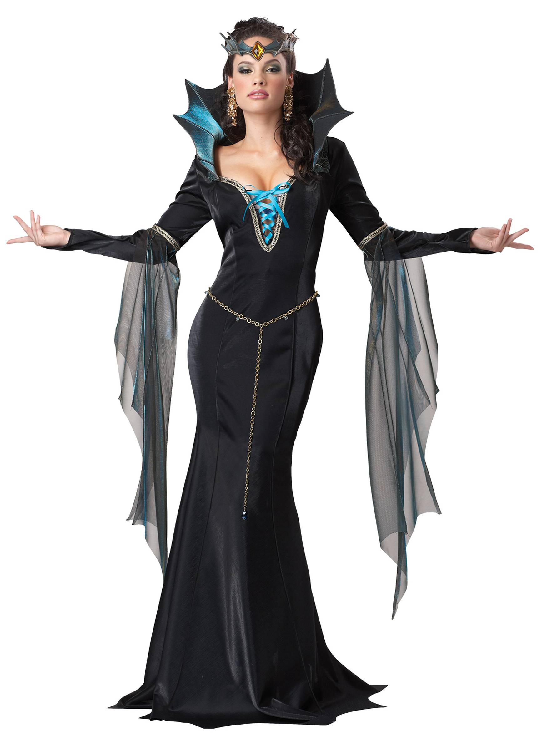 C799 Evil Sorceress Wicked Witch Womens Halloween Fancy Dress Up ...