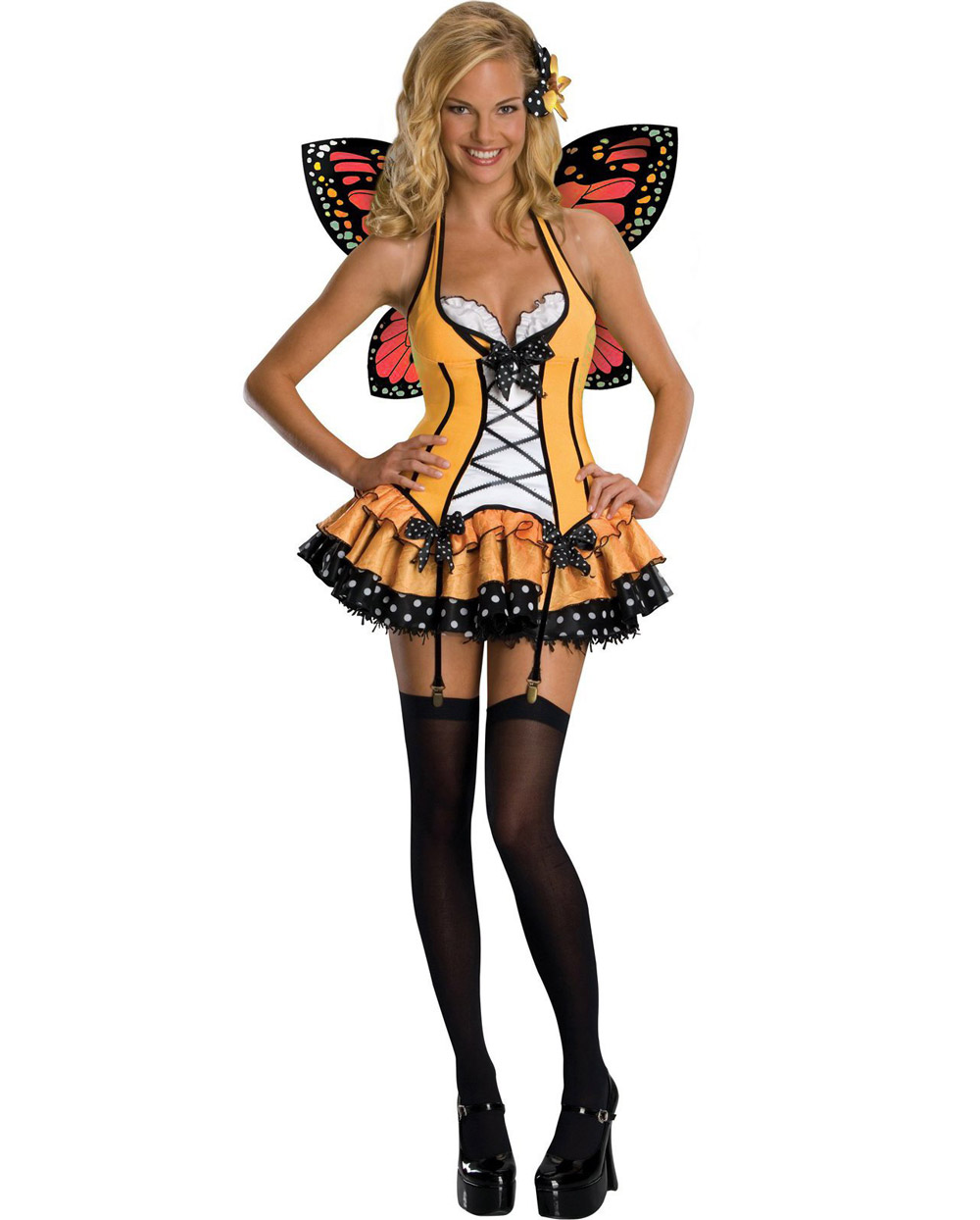 store product shipping adult fantasy butterfly queen womens halloween costume orange