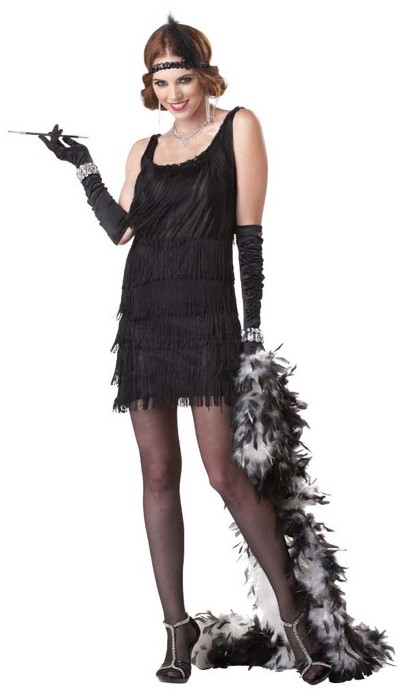 C20 Fashion Flapper Black Chicago 20s Halloween Fancy ...