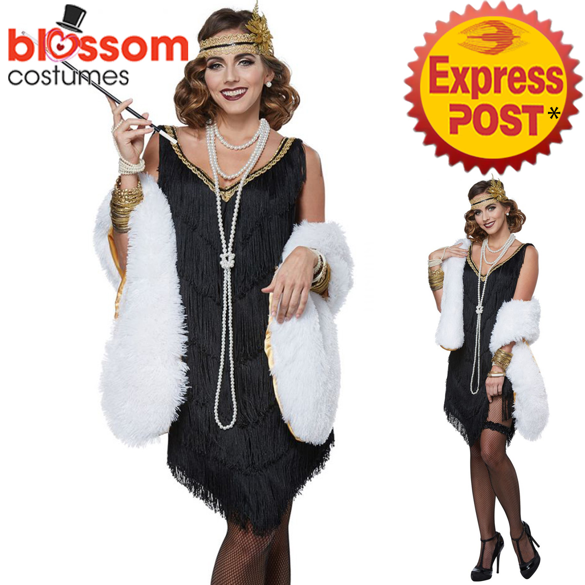 ca516 fabulous flapper great gatsby womens fancy dress
