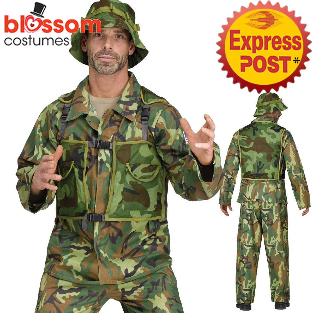 CA335 AUTHENTIC SPECIAL Forces Camo Uniform Military Army ...