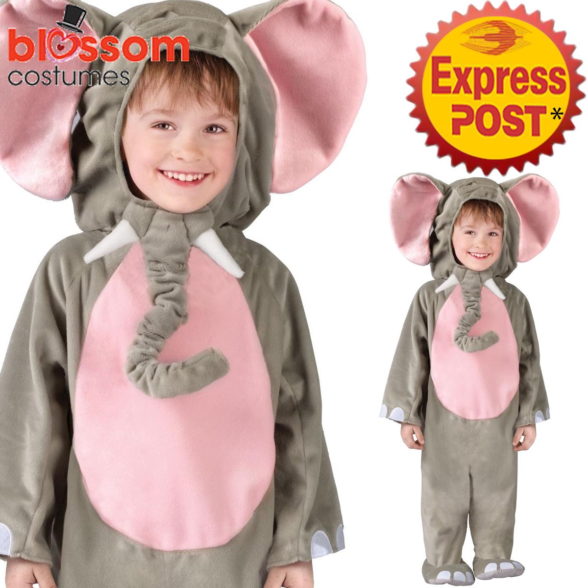 ck1107 toddler cuddly elephant animal costume kids jumpsuit