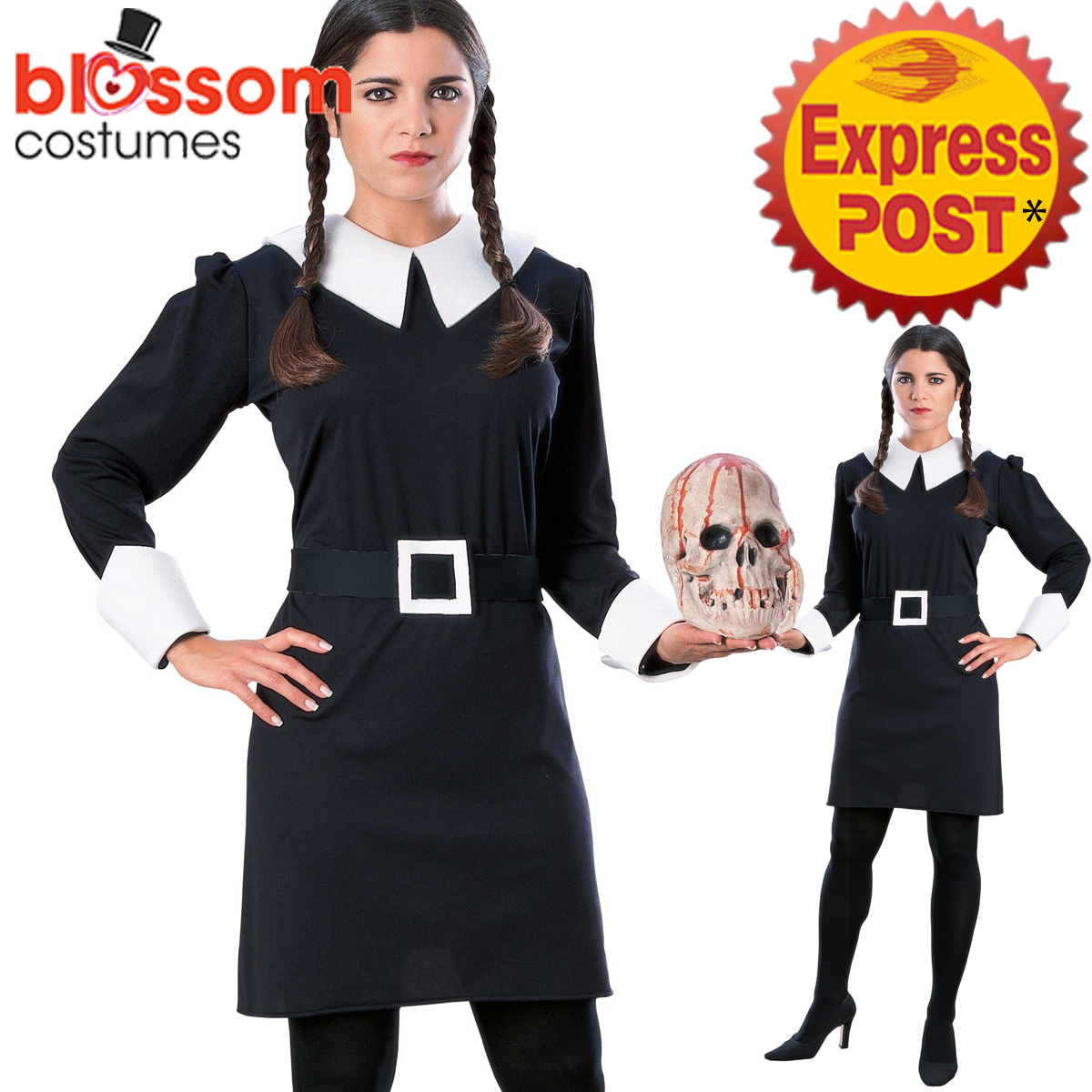 image is loading ca686 wednesday addams family womens halloween fancy dress