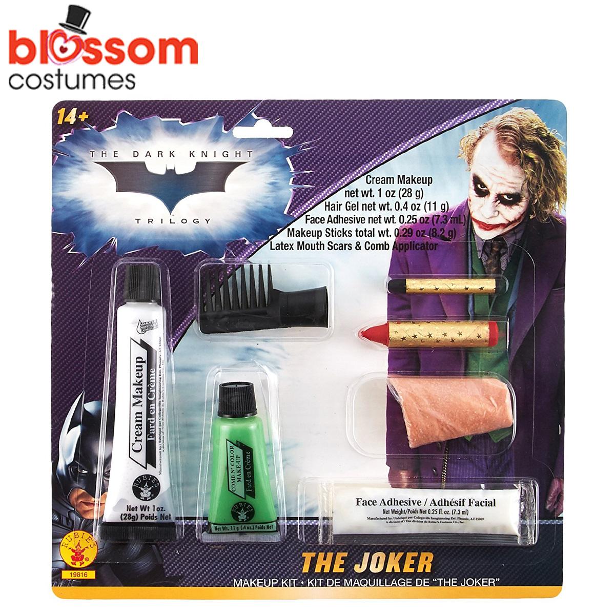 ac286 the joker deluxe costume make up kit batman dark knight