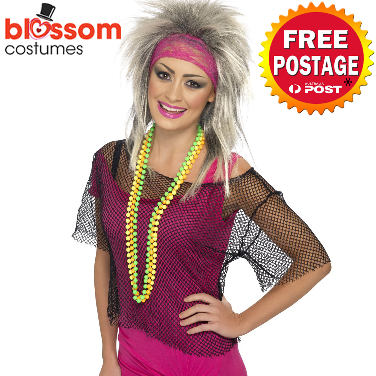 AC383-80s-String-Vest-Mash-Top-Net-Punk-Rocker-Fishnet-Rockstar-1980s-Costume