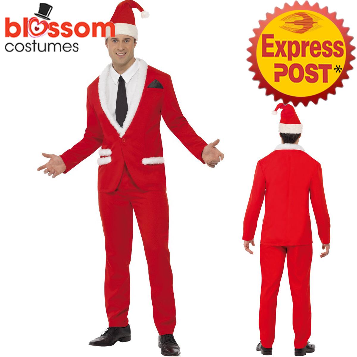 CA478-Mens-Santa-Cool-Father-Christmas-Xmas-Suit-Costume-Christmas-Fancy-Dress