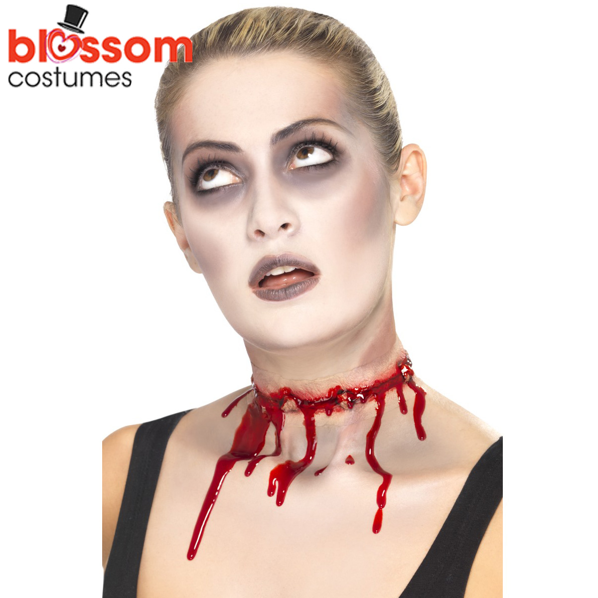 AC238-Barbed-Wire-Split-Zombie-Gory-Halloween-Latex-Costume-Make-Up-Special-FX