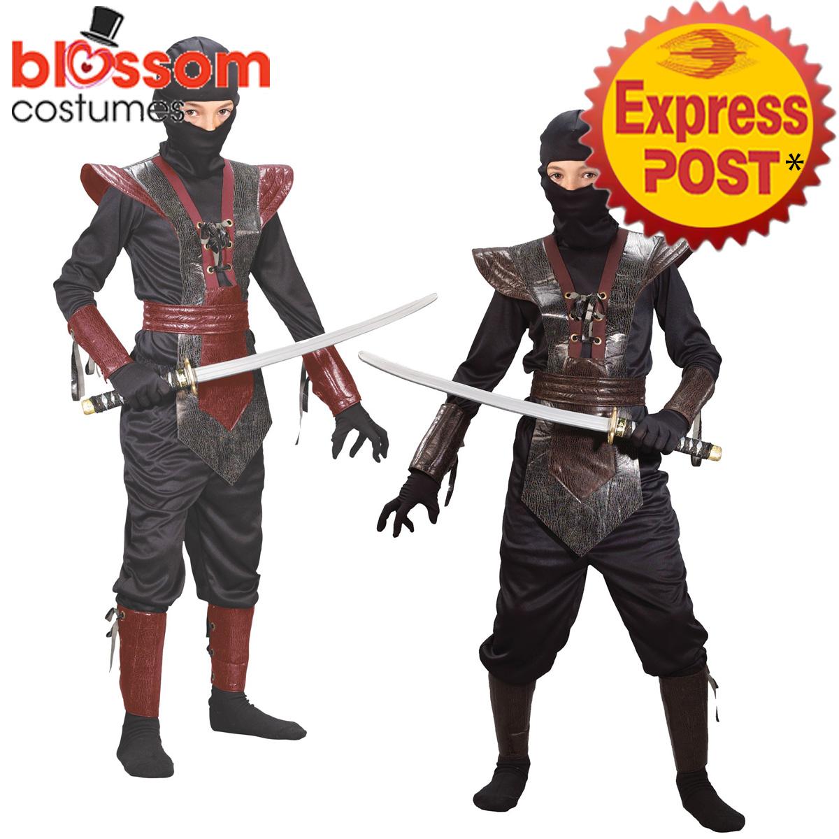 CK977-Leather-Ninja-Child-Kids-Warrior-Kungfu-Boys-Fancy-Dress-Costume-Book-Week