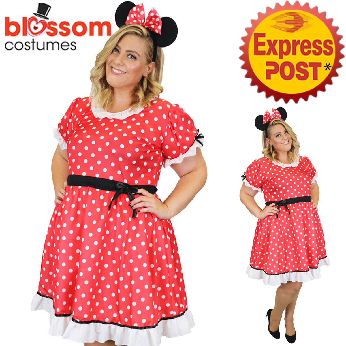 CSW59-Minnie-Mouse-Lady-Curvaceous-Plus-Womens-Fancy-Dress-Up-Costume-Book-Week