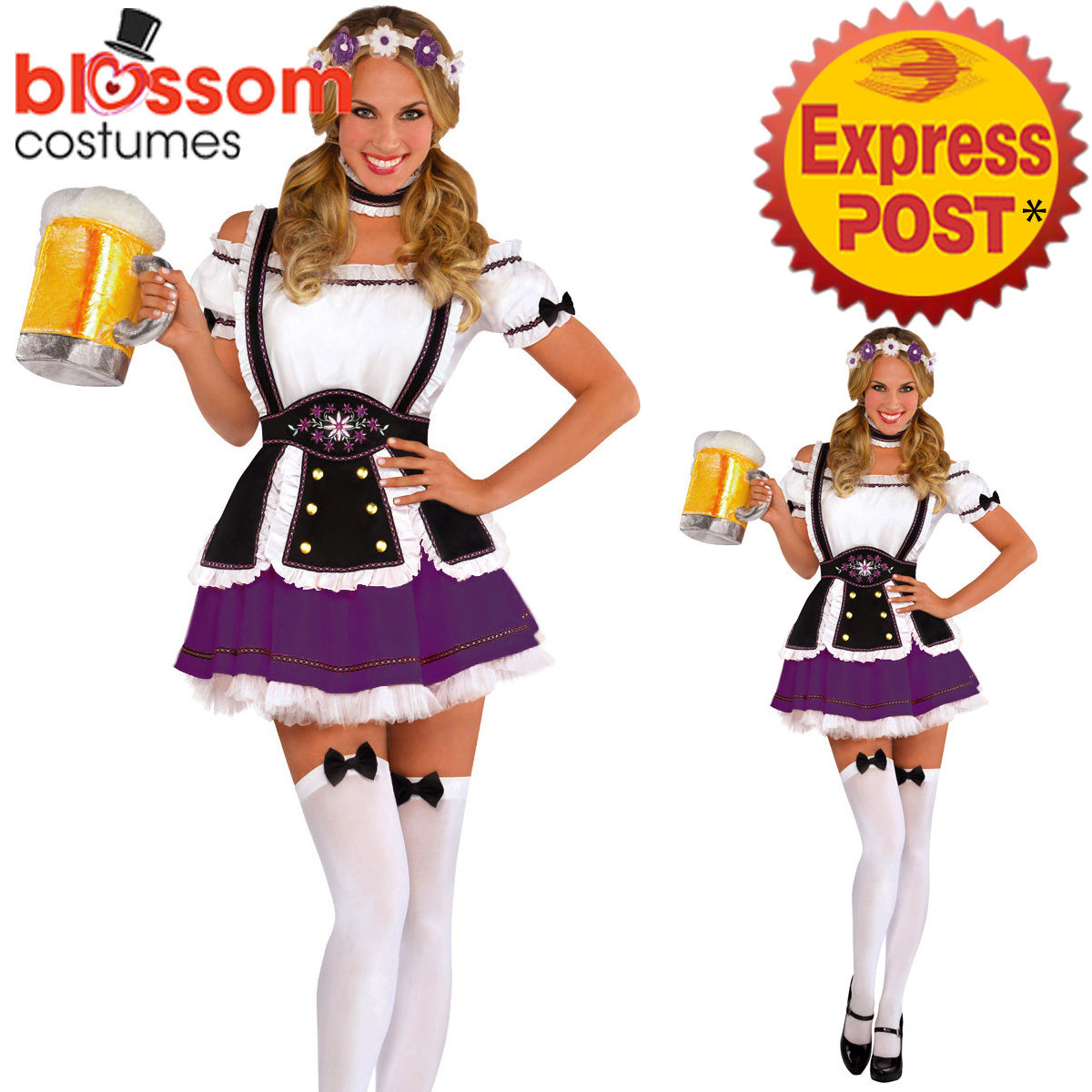 K396-Purple-Oktoberfest-Wench-Ladies-Dress-Up-German-Bavarian-Beer-Girl-Costume