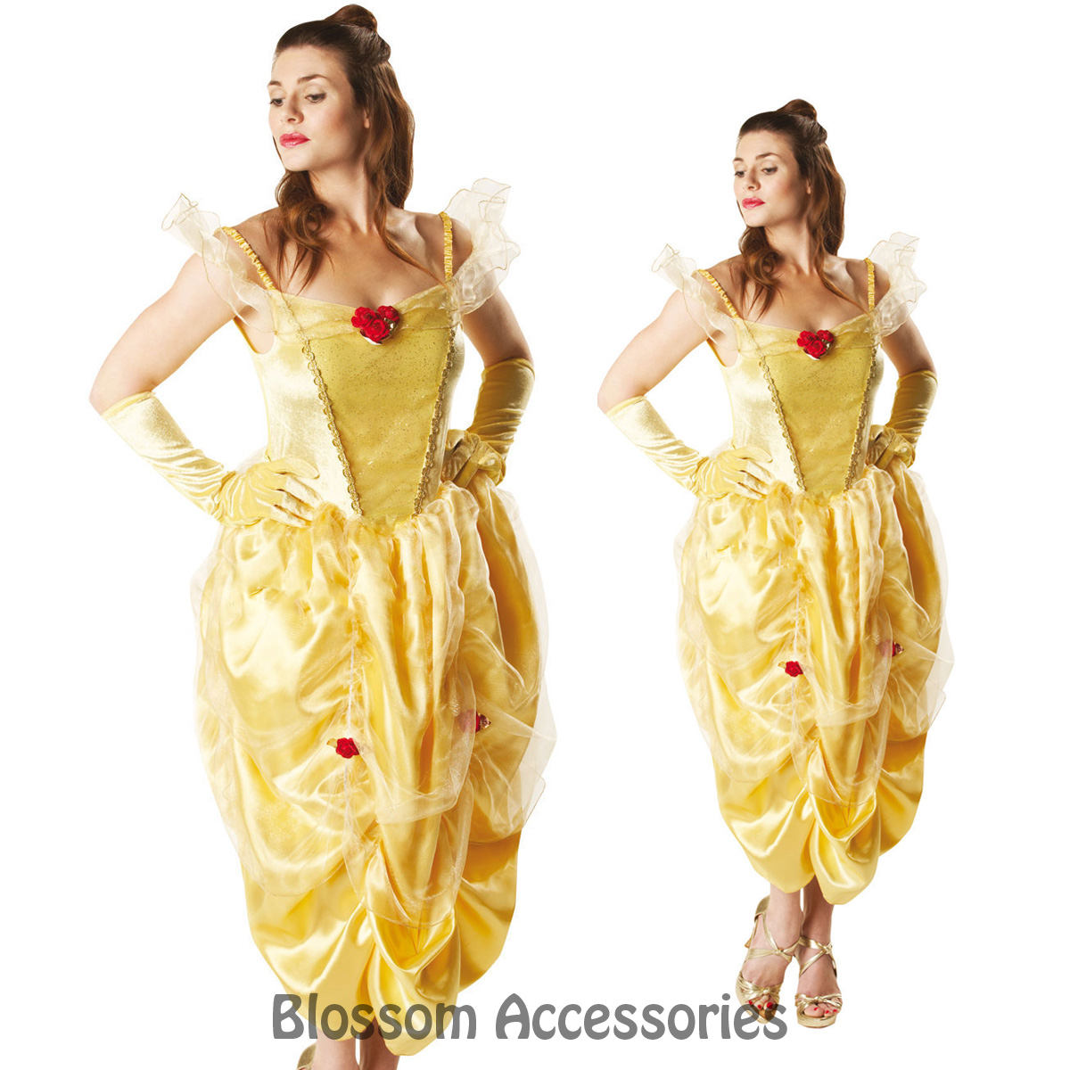 C891-Licensed-Beauty-and-the-Beast-Belle-Disney-Fairytale-Fancy-Adult-Costume-RB
