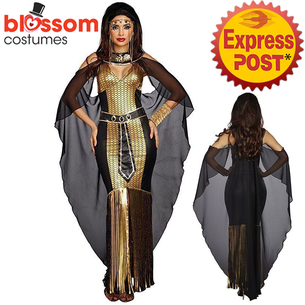 k647 ladies cleopatra egyptian goddess roman fancy dress up