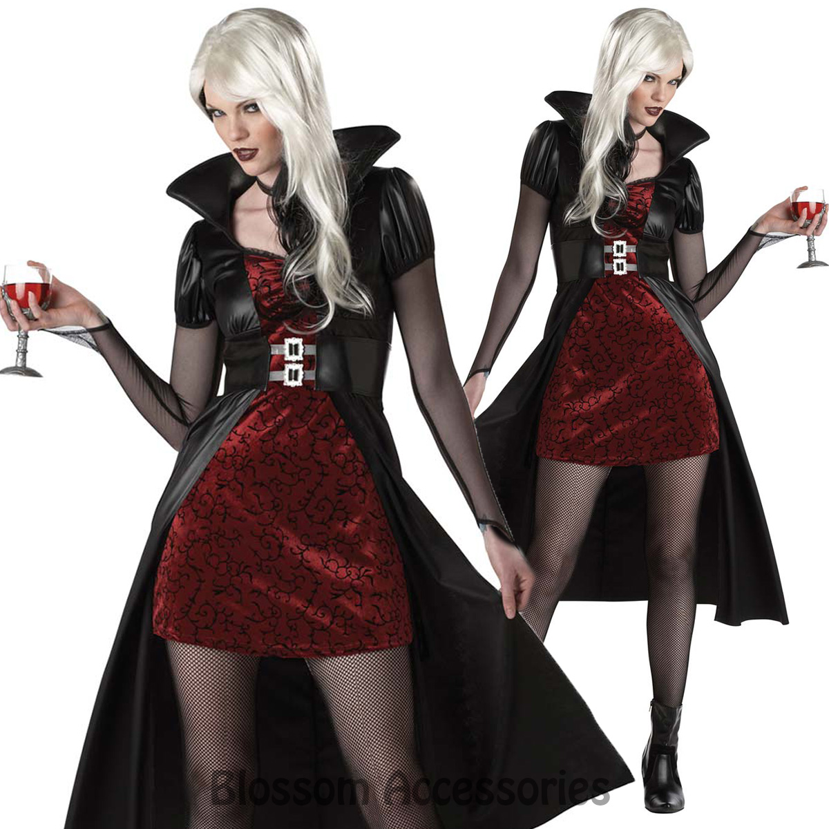 Image Is Loading C792 Blood Thirsty Beauty Woman Vampire Gothic Halloween