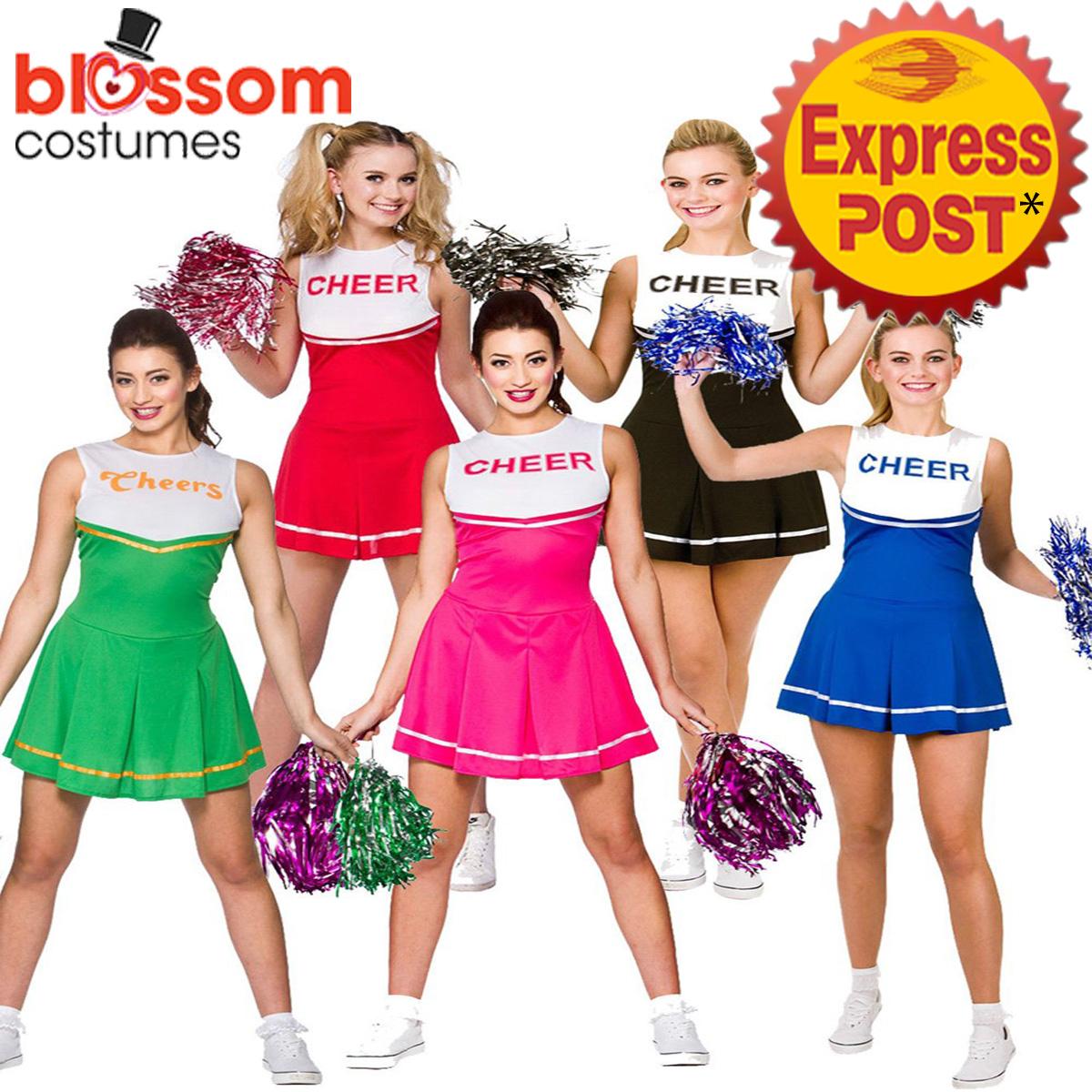 K308-Ladies-Cheerleader-Costume-School-Girl-Outfit-Dress-up-Cheer-Leader-Uniform