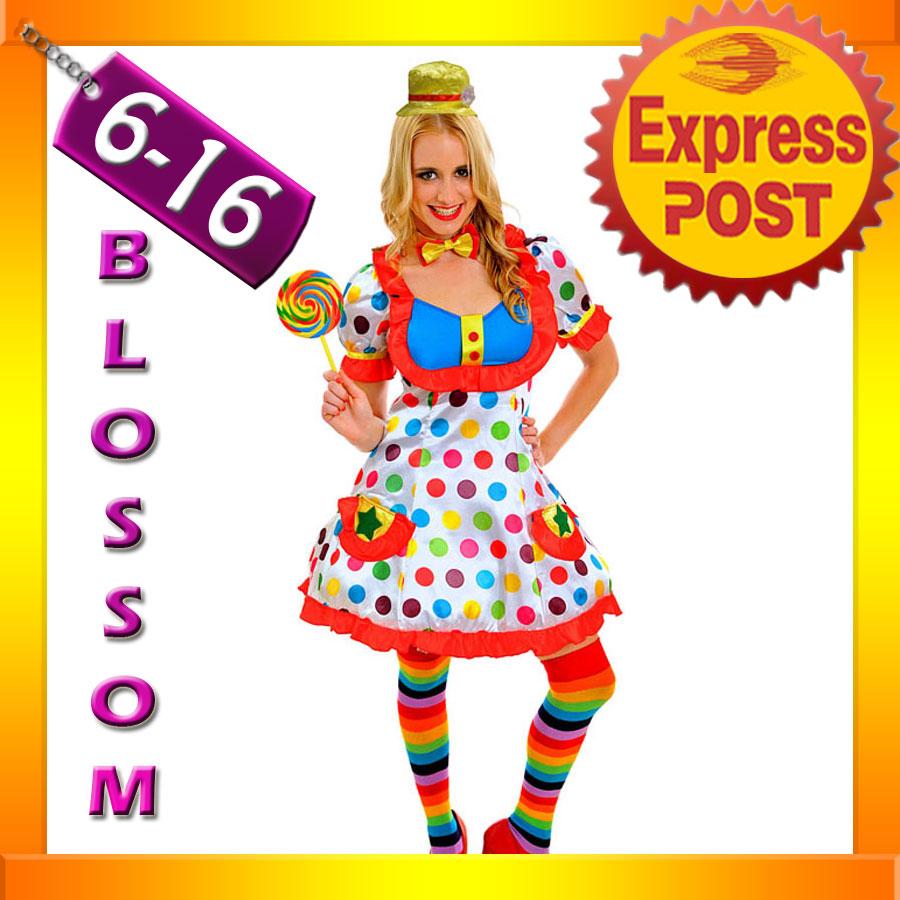 J79 Adult Funny Clown Costume Circus Carnival Fancy Dress