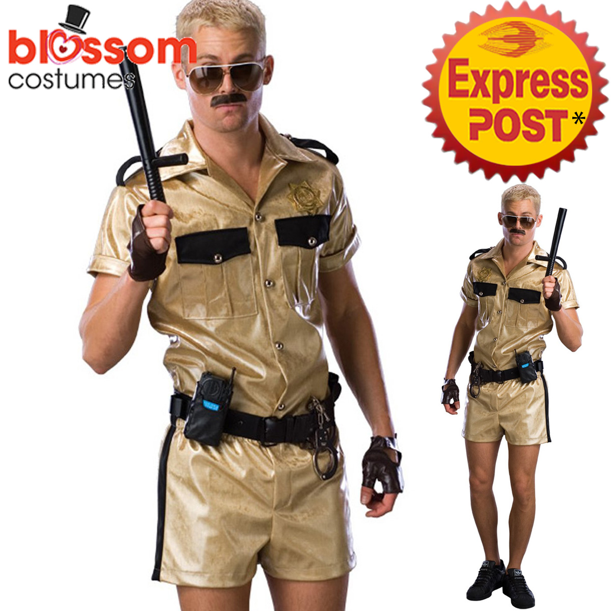 Image is loading CA570-Reno-911-Deluxe-Lt-Dangle-Funny-Mens-  sc 1 st  eBay : cops costume  - Germanpascual.Com