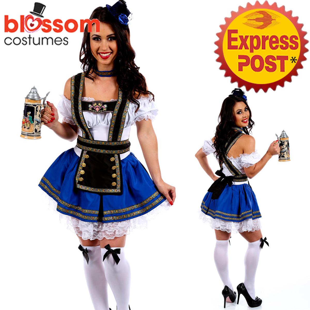 J19-Blue-Dirndl-Oktoberfest-Ladies-German-Beer-Maid-Outfit-Fancy-Dress-Costume