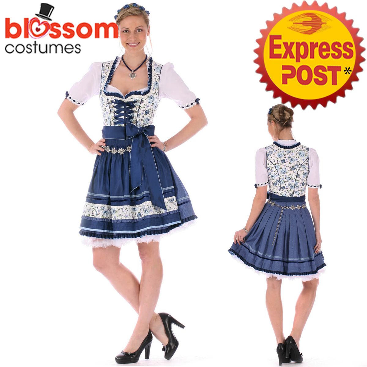 k398 oktoberfest wench ladies dirndl dress up german. Black Bedroom Furniture Sets. Home Design Ideas