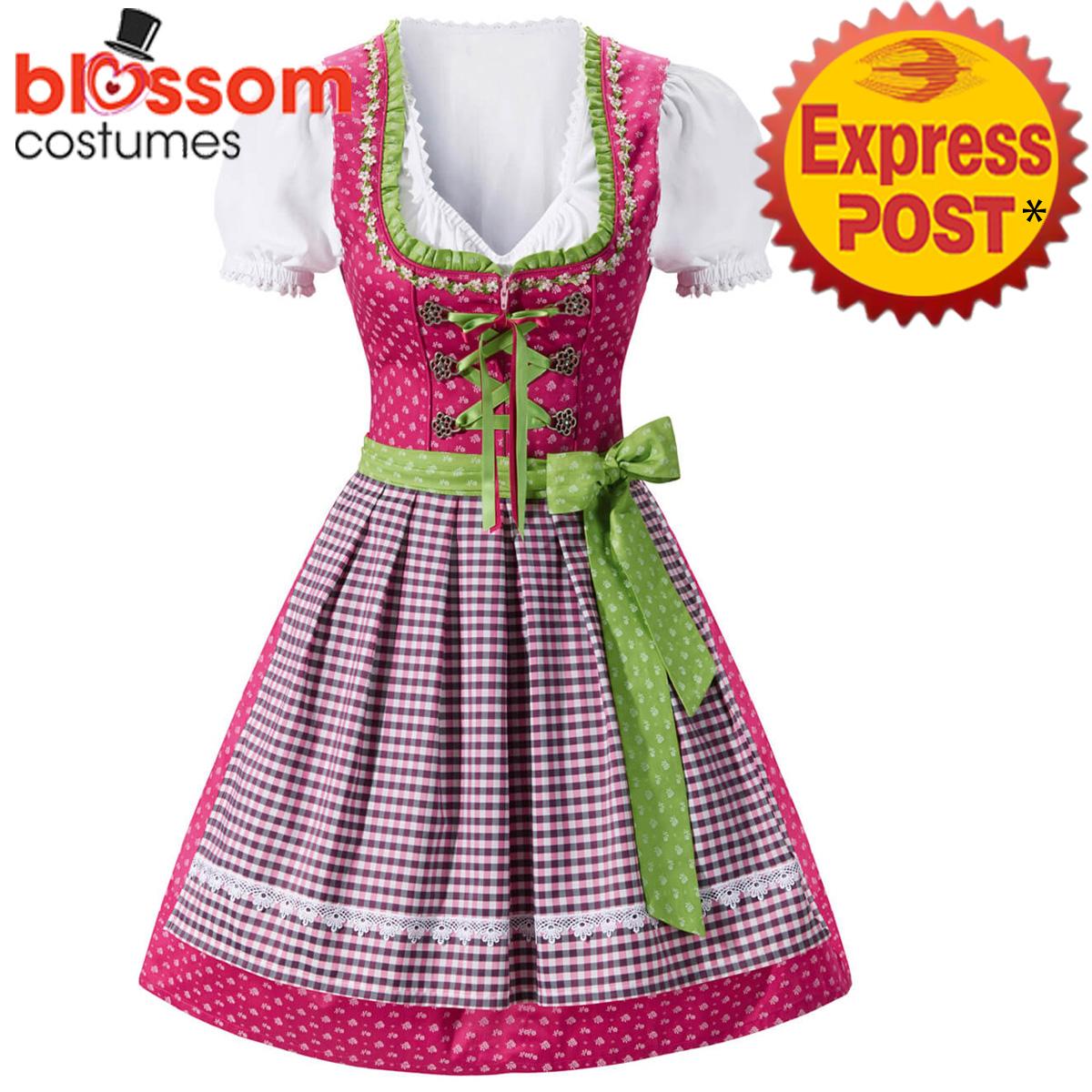 K391-Ladies-Oktoberfest-Beer-Maid-Costume-Bavarian-German-Dirdnl-Lederhosen