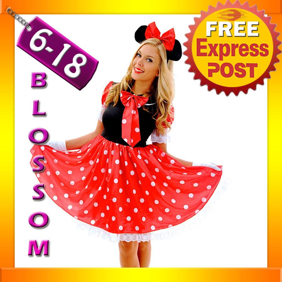 F82-Ladies-Minnie-Mickey-Mouse-Fancy-Dress-Halloween-Disney-Theme-Costume-Ears