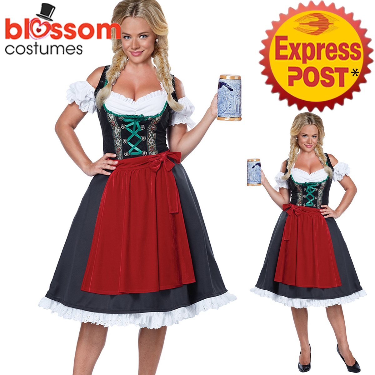 K395-Ladies-Beer-Maid-Oktoberfest-Costume-Gretchen-German-Heidi-Wench-Dress-Up