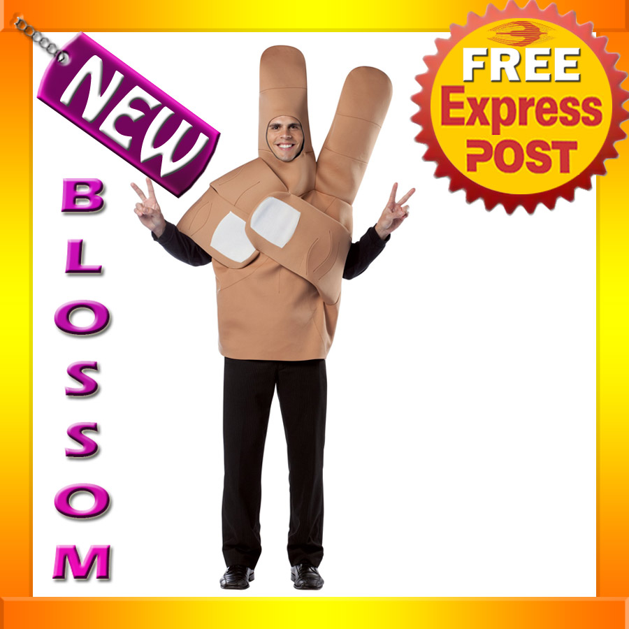 C438-Mens-Peace-Out-Hand-Funny-Halloween-Fancy-Dress-Costume-Outfit