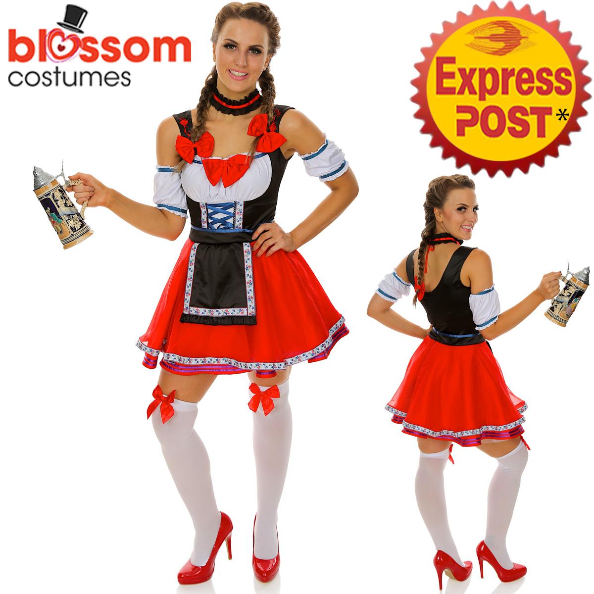 K246 ladies german beer maid bavarian oktoberfest outfit fancy dress image is loading k246 ladies german beer maid bavarian oktoberfest outfit solutioingenieria Images