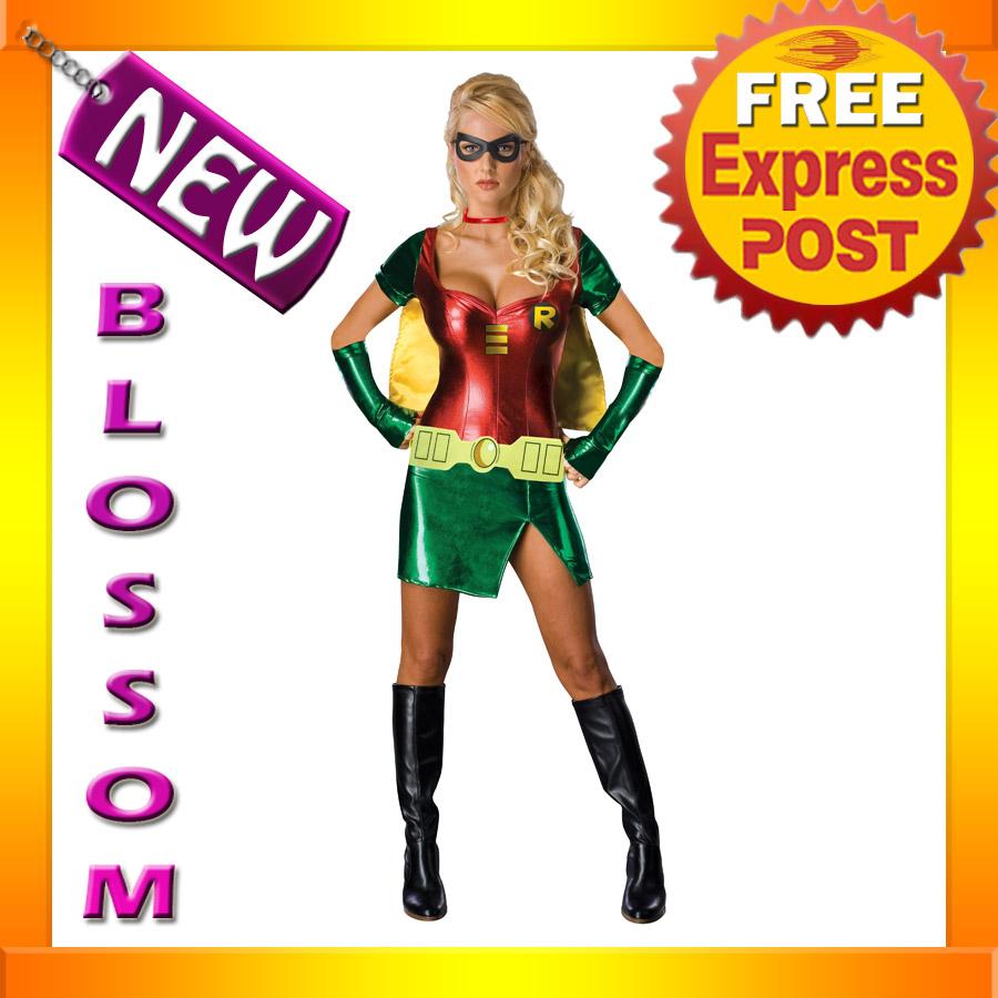 C9 Batman Sexy Robin Fancy Dress Adult Costume XS S M