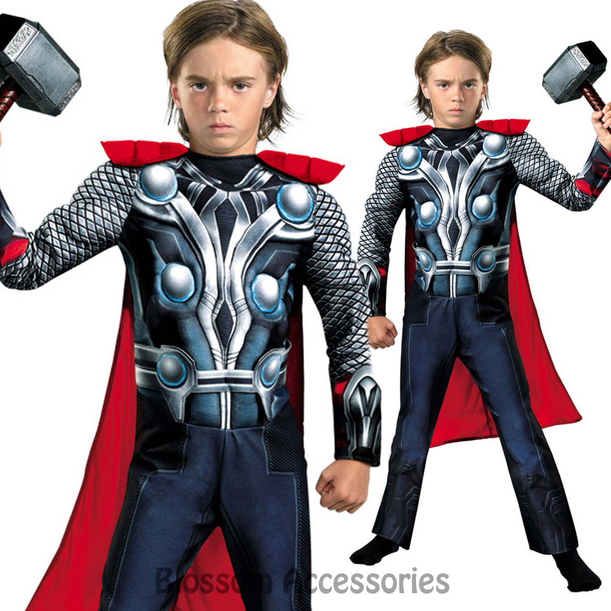 Image is loading CK709-Thor-Superhero-Hero-Avengers-Child-Boys-Kids-  sc 1 st  eBay & CK709 Thor Superhero Hero Avengers Child Boys Kids Fancy Dress Book ...