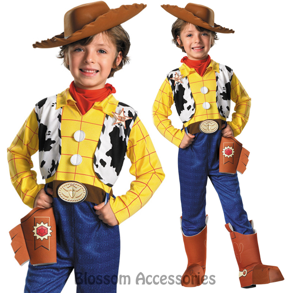 CK699 Deluxe Toy Story Cowboy Woody Fancy Dress Up Child Boys Book Week Costume  sc 1 st  eBay & Disney Toy Story Woody Deluxe Toddler Child Costume 4 6 | eBay