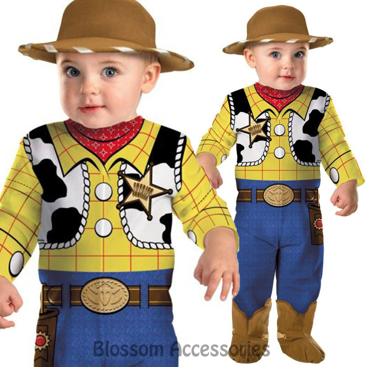 Baby Boys Toddlers Woody Toy Story Cowboy Film Book Day Fancy Dress Outfit
