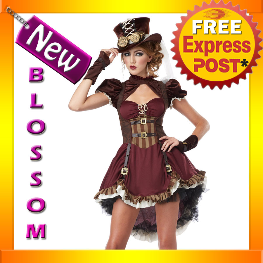 CK116-Steampunk-Girl-Teen-Victorian-Gothic-Halloween-Fancy-Dress-Up-Costume