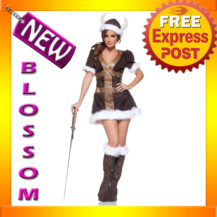 C555-Women-Viking-Princess-Barbar-Warrior-Fancy-Dress-Halloween-Adult-Costume