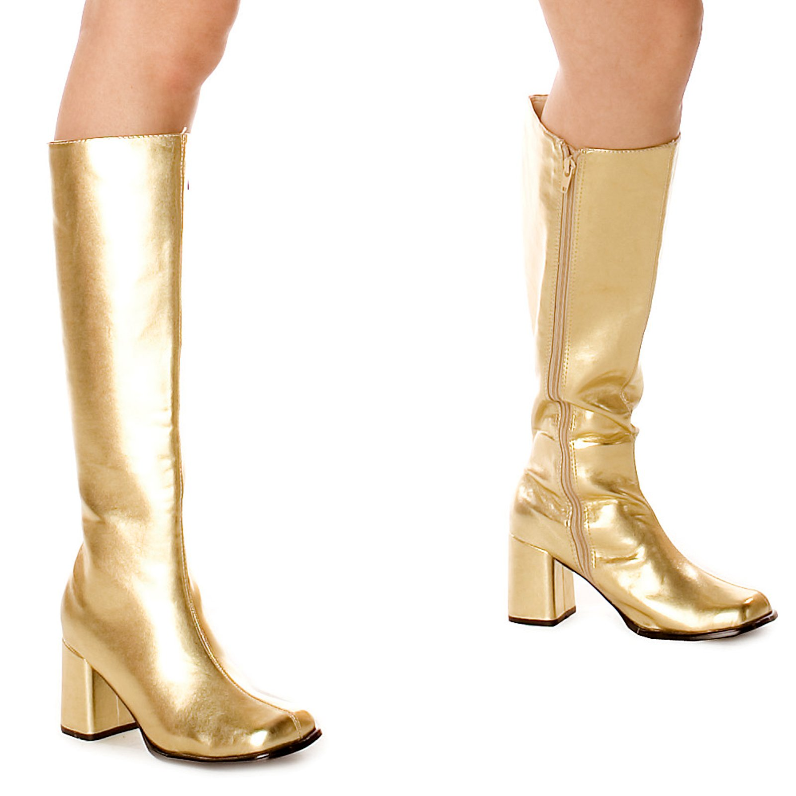 s19 gogo gold knee high womens hippy go 60 s