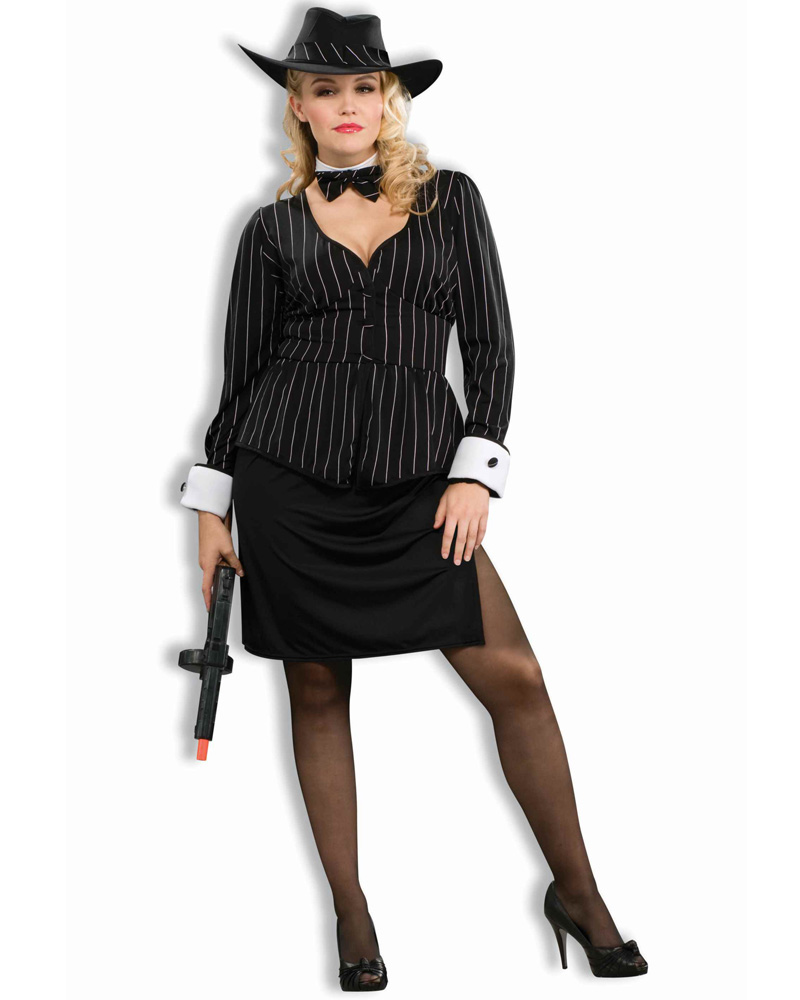 CL167 Gorgeous Gangster 1920s Chicago Mafia Mob Moll Plus Halloween Costume | eBay