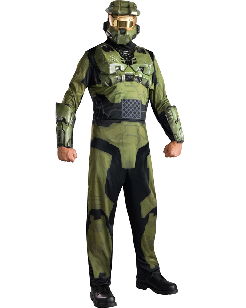 c830 mens halo 3 master chief suit halloween fancy dress adult costume ebay. Black Bedroom Furniture Sets. Home Design Ideas